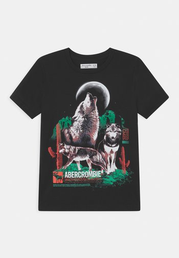 WESTERN IMAGERY PRINT LOGO  - Print T-shirt - black