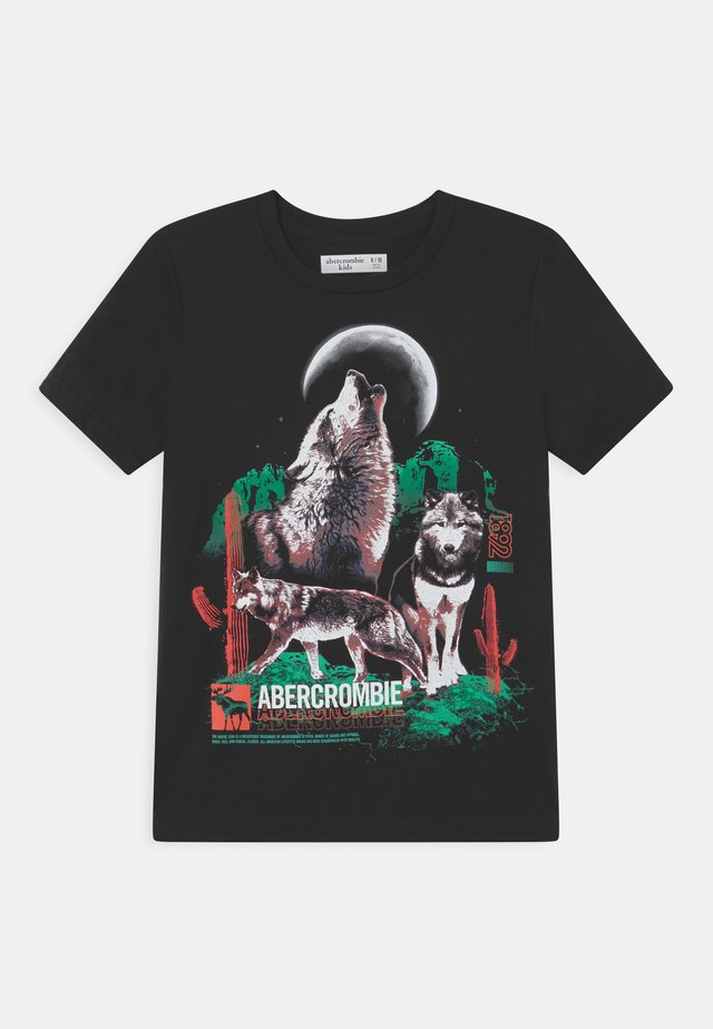 WESTERN IMAGERY PRINT LOGO  - T-shirt con stampa - black