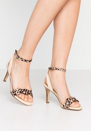 High heeled sandals - beige/nature