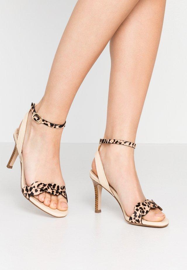 Sandalen met hoge hak - beige/nature