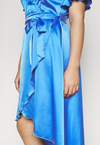 Missguided Plus - FLUTTER HIGH LOW MIDI DRESS - Day dress - navy - 5