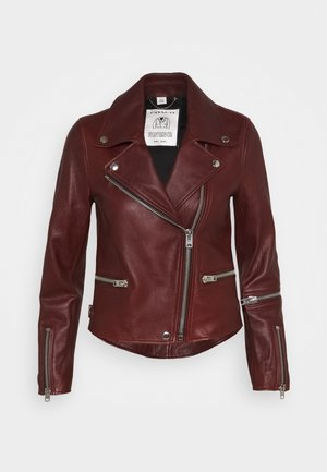 GHOST BIKER - Leather jacket - russet