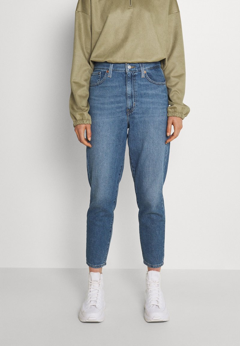 Levi's® - HIGH WAISTED MOM JEAN - Jeans Tapered Fit - eco blue