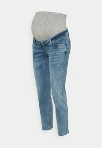 MAMALICIOUS - MLTRINITY CROPPED - Slim fit jeans - light blue denim - 0