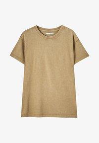 PULL&BEAR - Print T-shirt - brown - 4