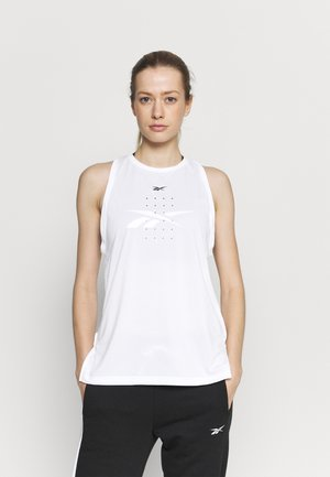 PERFORATED TANK - Topper - white
