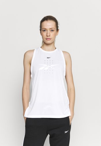 PERFORATED TANK - Top - white