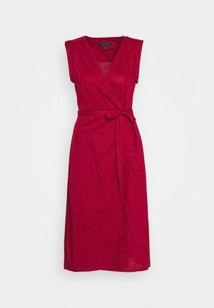 WRAP - Day dress - firebrick