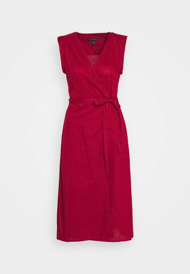 WRAP - Day dress - firebrick