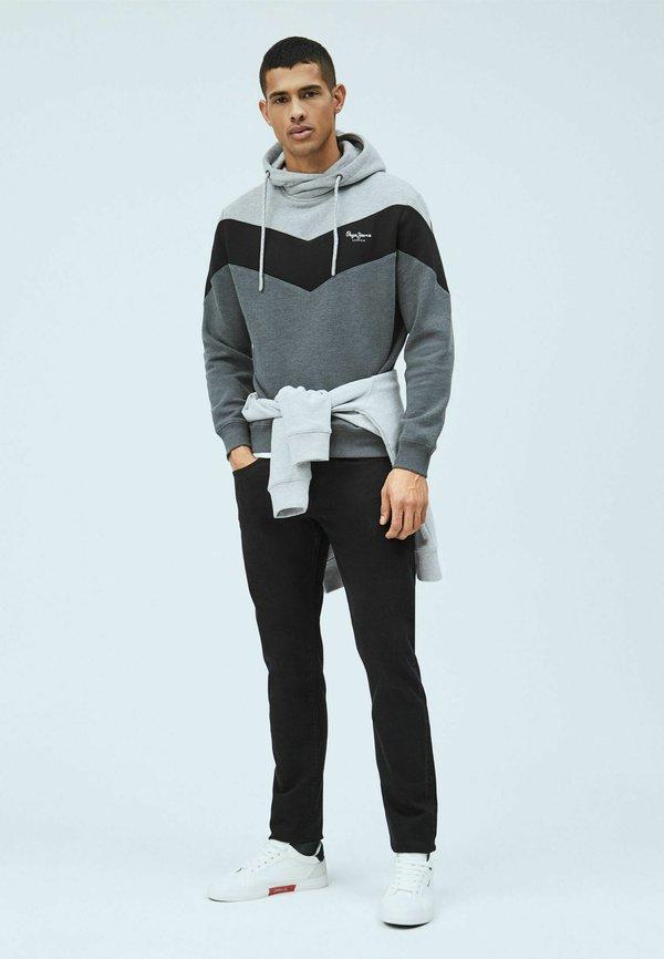 Pepe Jeans ARTIE - Bluza z kapturem - washed schwarz/czarny Odzież Męska BABW