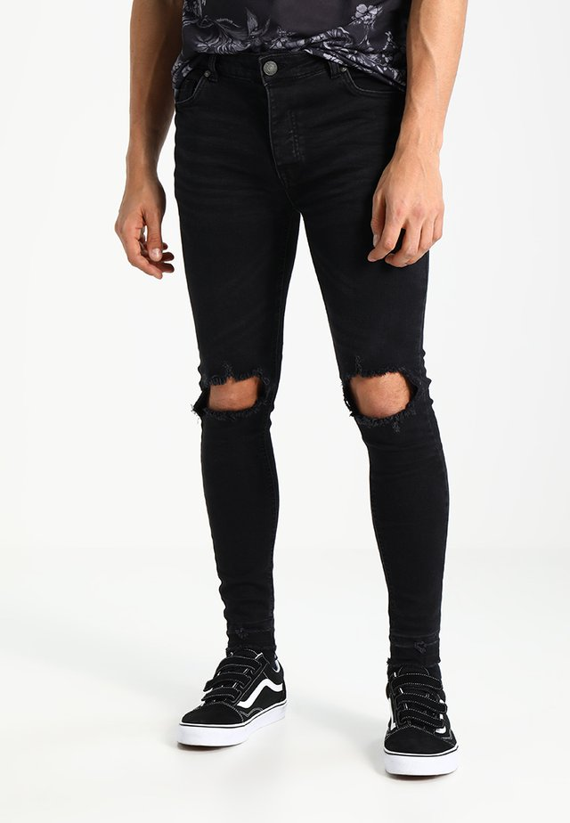 MJN-STONEM - Jeans Skinny Fit - black charcoal
