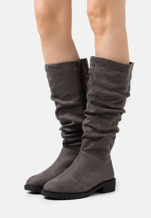 WIDE FIT CLOUD SLOUCH KNEE HIGH  - Vysoká obuv - mid grey