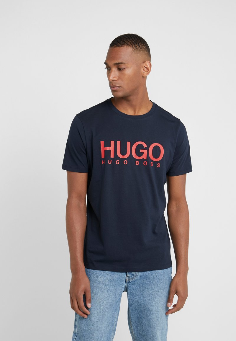 HUGO - DOLIVE - T-shirt con stampa - navy
