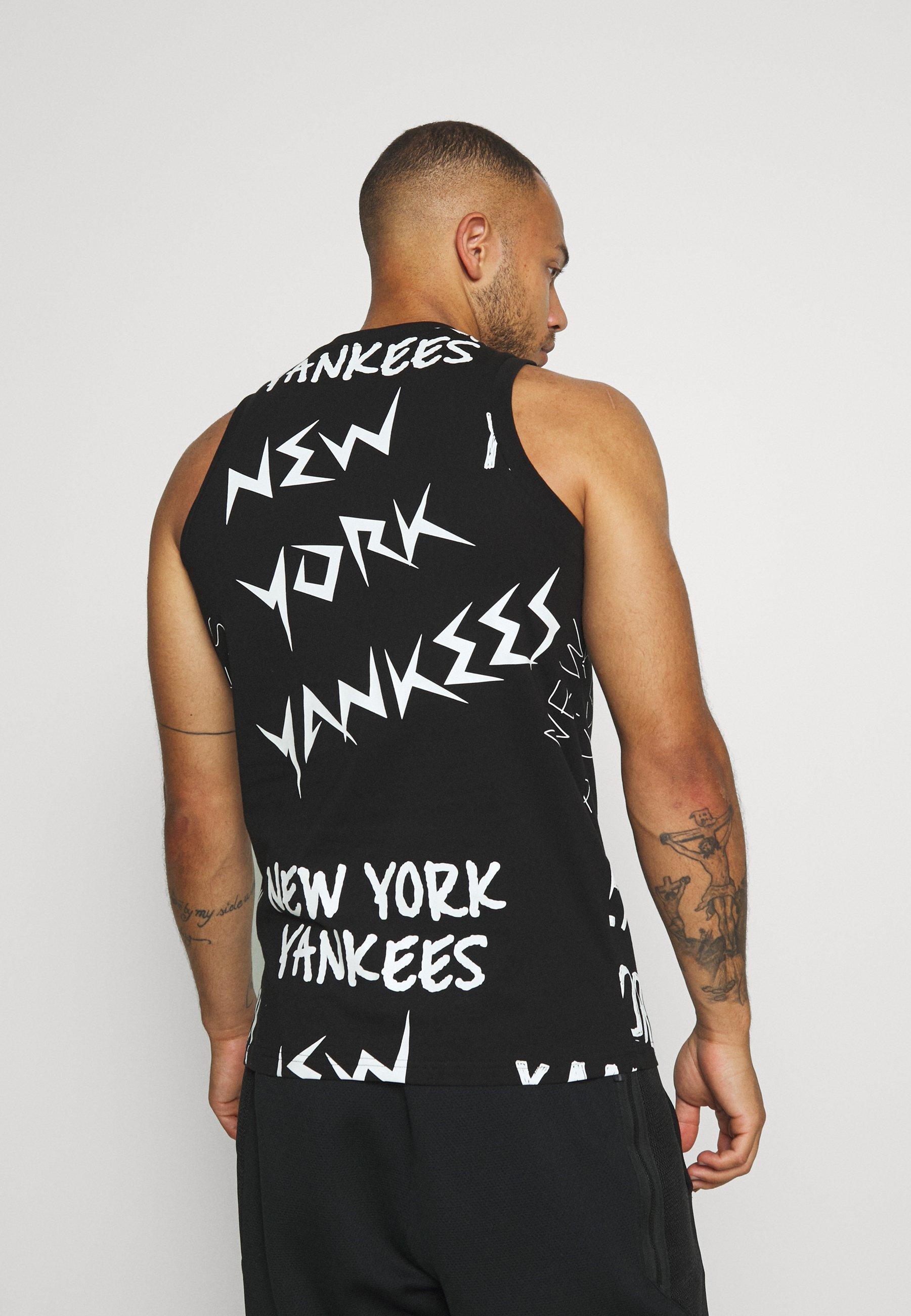 New Era Mlb Wordmark Tank York Yankees - T-shirts Med Print Black