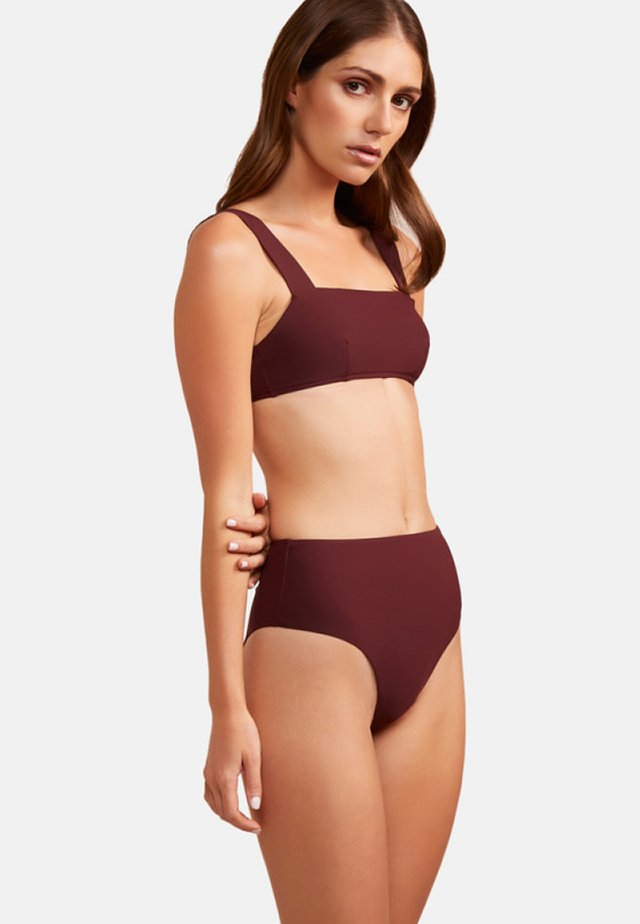 ANJA  - Bikini top - burgundy