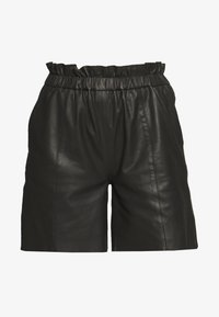 Culture - ALINA - Leather trousers - black - 3
