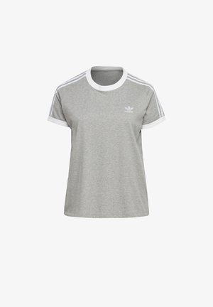 3-STRIPES T-SHIRT (PLUS SIZE) - T-shirts med print - grey