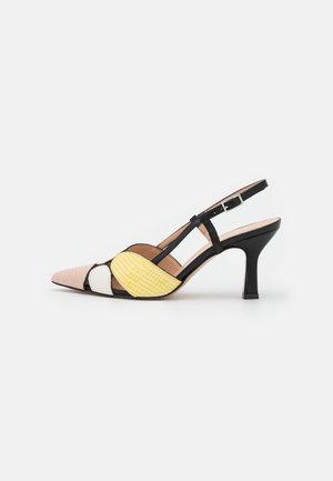 Sandaalit nilkkaremmillä - multicolor