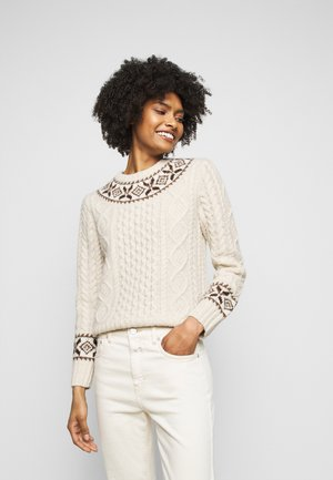 Jumper - cream/multi