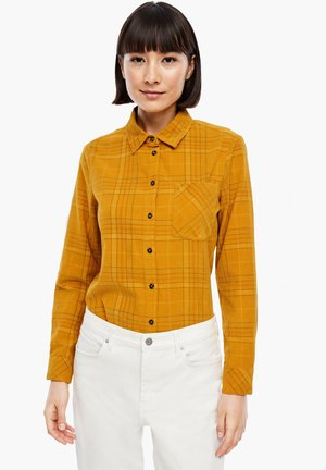 Button-down blouse - yellow check