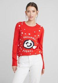 Vila - Jumper - racing red/snowballs - 0