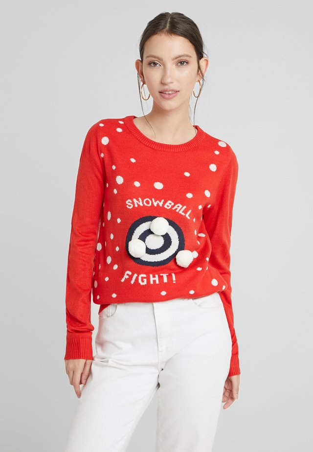 Maglione - racing red/snowballs