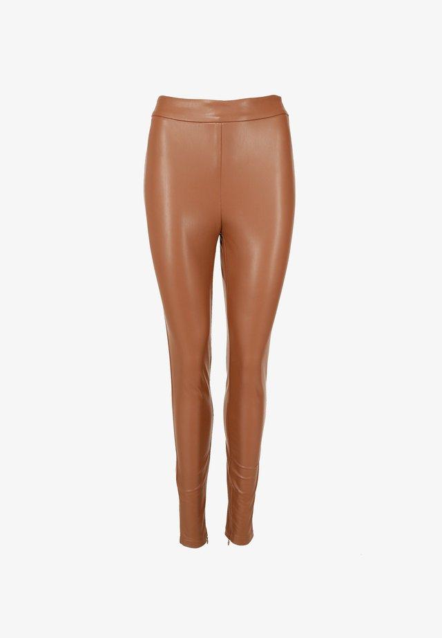 Leggings - Trousers - cognac