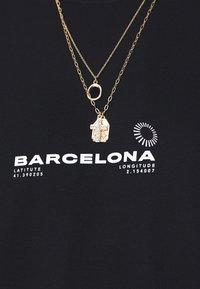 Topman - BARCELONA PRINT TEE - Print T-shirt - black - 5