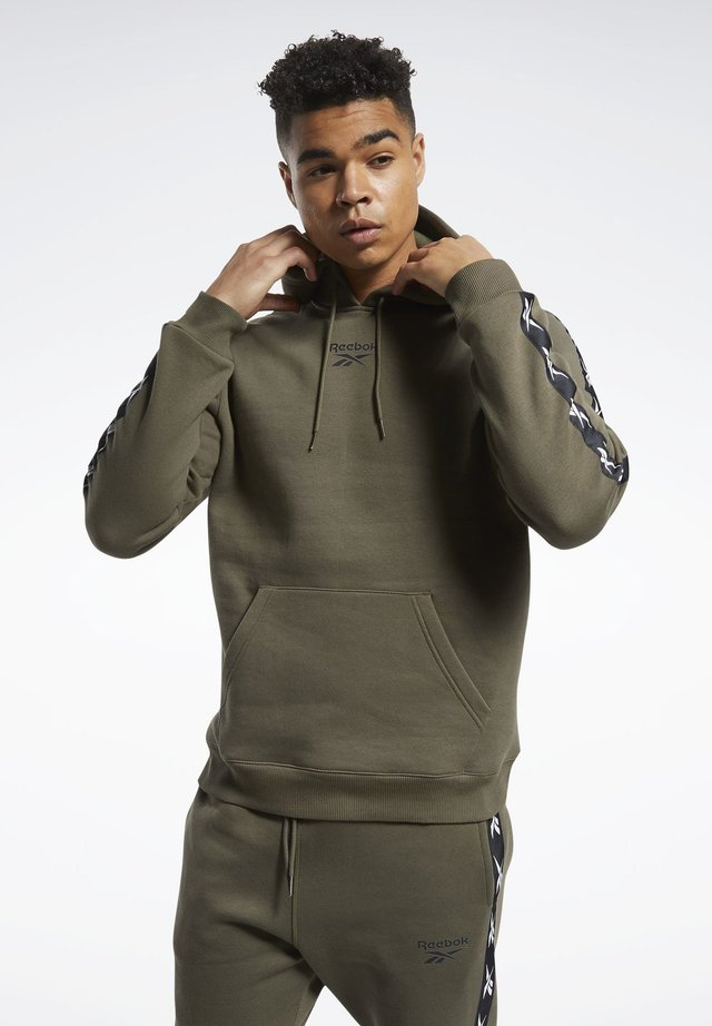 TAPE HOODIE - Bluza z kapturem - armygr