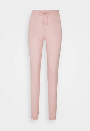 SOFT TOUCH - Tracksuit bottoms - blush