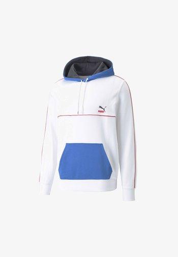 PIPED HOODIE - Sweatshirt - white