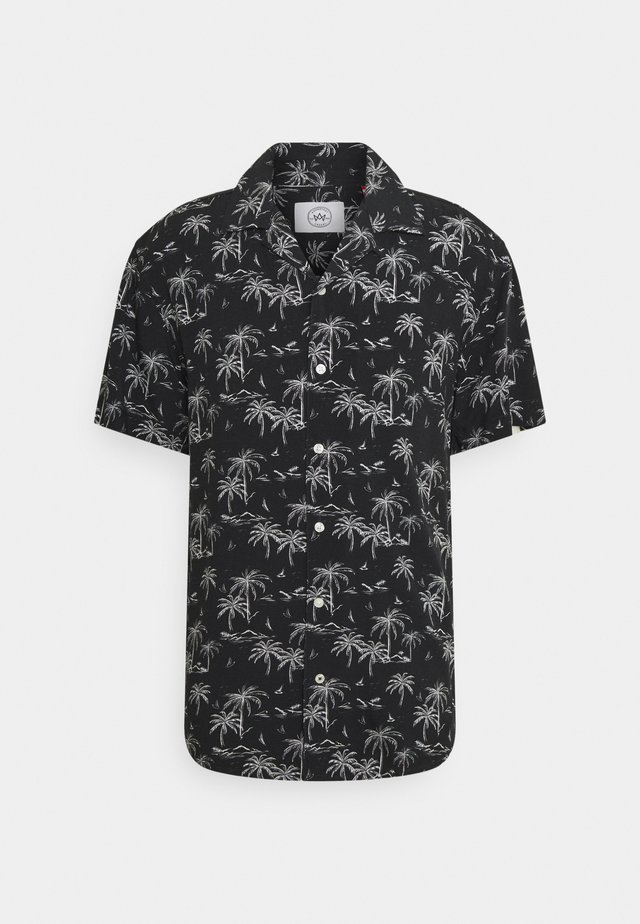 CUBA TROPICAL - Camicia - black/white