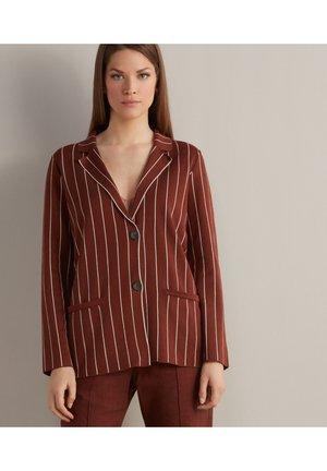 Button-down blouse - mogano/crema
