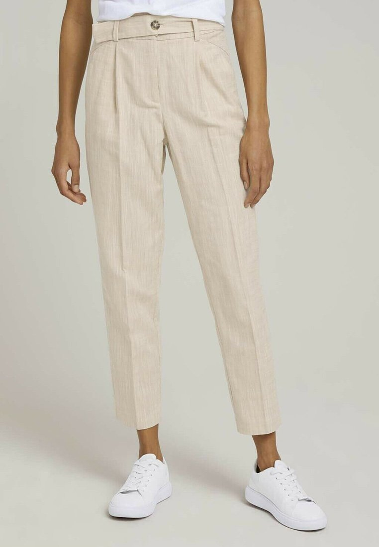 mine to five TOM TAILOR - Chinos - sand white twill