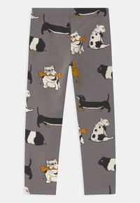 Lindex - AUTHENTIC DOG UNISEX - Leggings - Trousers - grey - 1