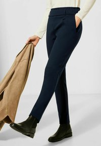Street One - LOOSE FIT - Trousers - blau - 0