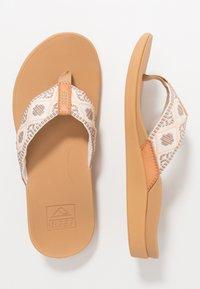 Reef - ORTHO-BOUNCE - Sandály s odděleným palcem - vintage white - 1