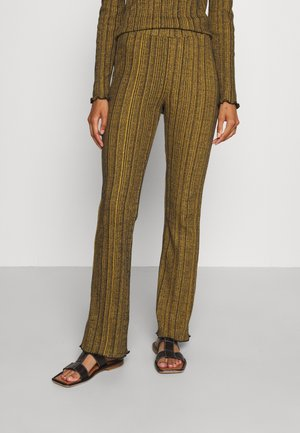 TOULOUSE MELANGE TROUSER - Trousers - yellow