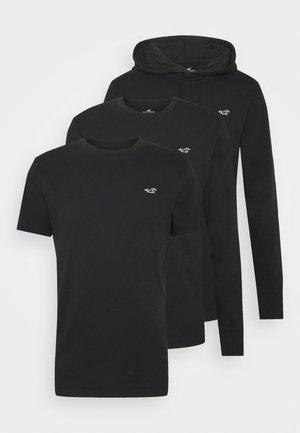 MIXED SILO SET - Jednoduché triko - black