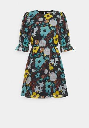 PUFF SLEEVE DRESS - Sukienka letnia - black flower