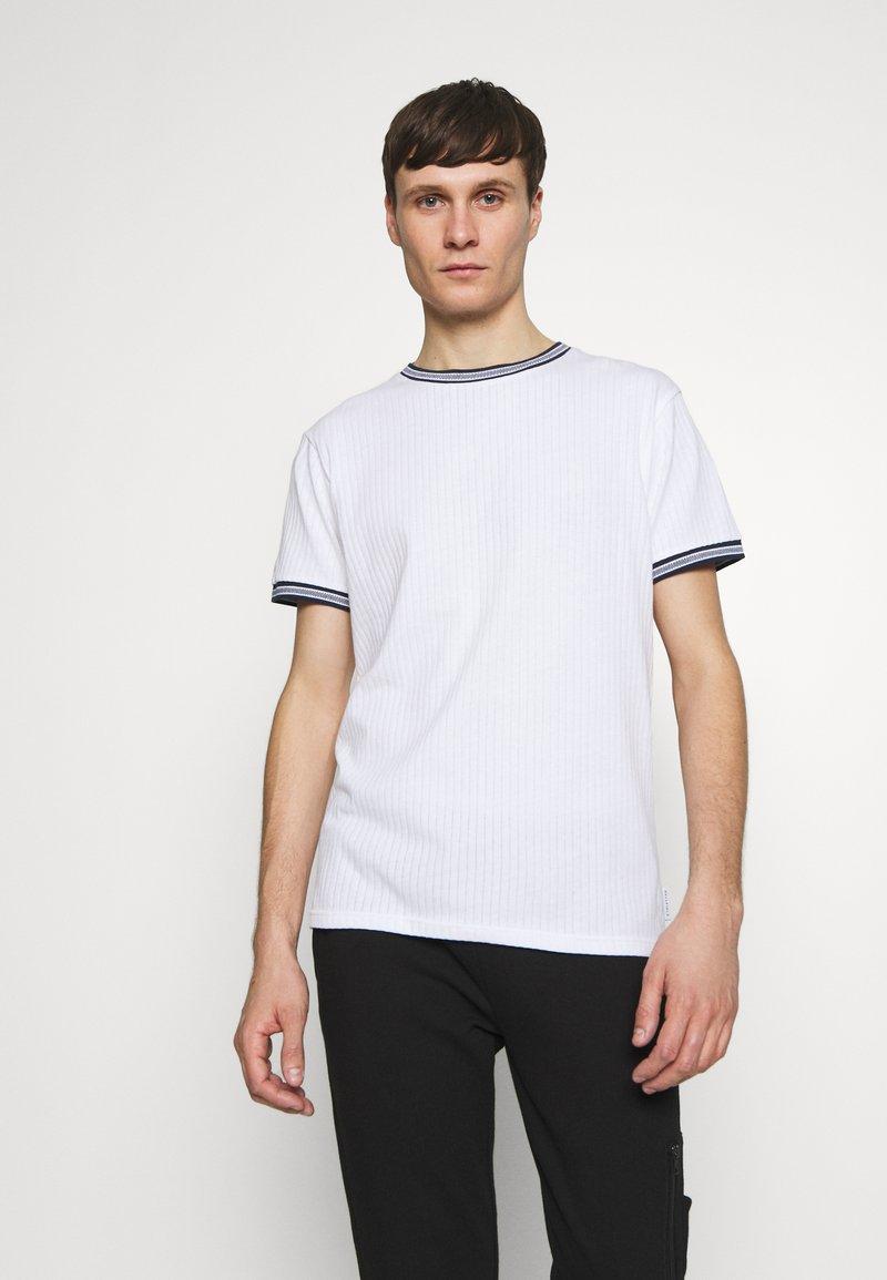 Bellfield - TIPPED CREW NECK TEE - Basic T-shirt - white