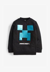 Next - MINECRAFT SEQUIN CREW NECK SWEATER - Sweatshirt - black - 0
