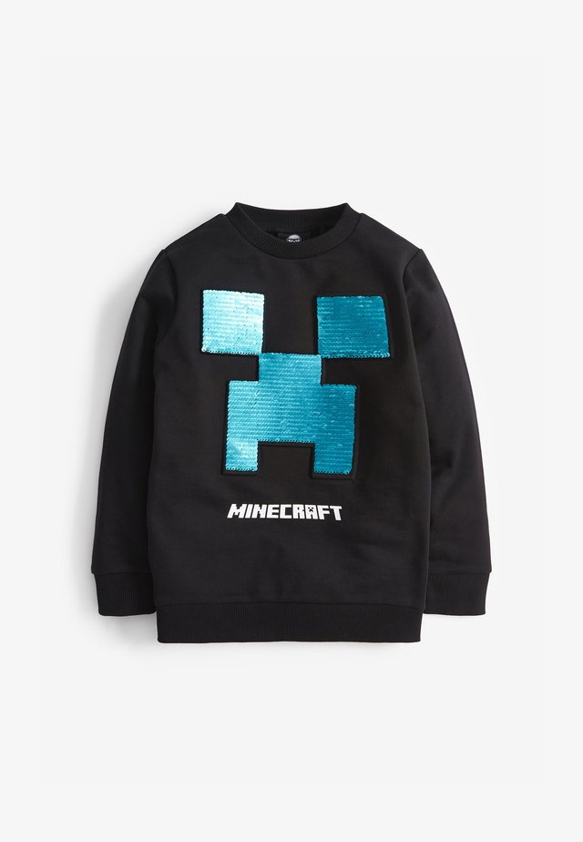 MINECRAFT SEQUIN CREW NECK SWEATER - Mikina - black