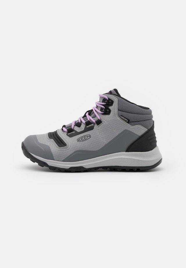TEMPO FLEX MID WP - Obuwie hikingowe - steel grey/african violet