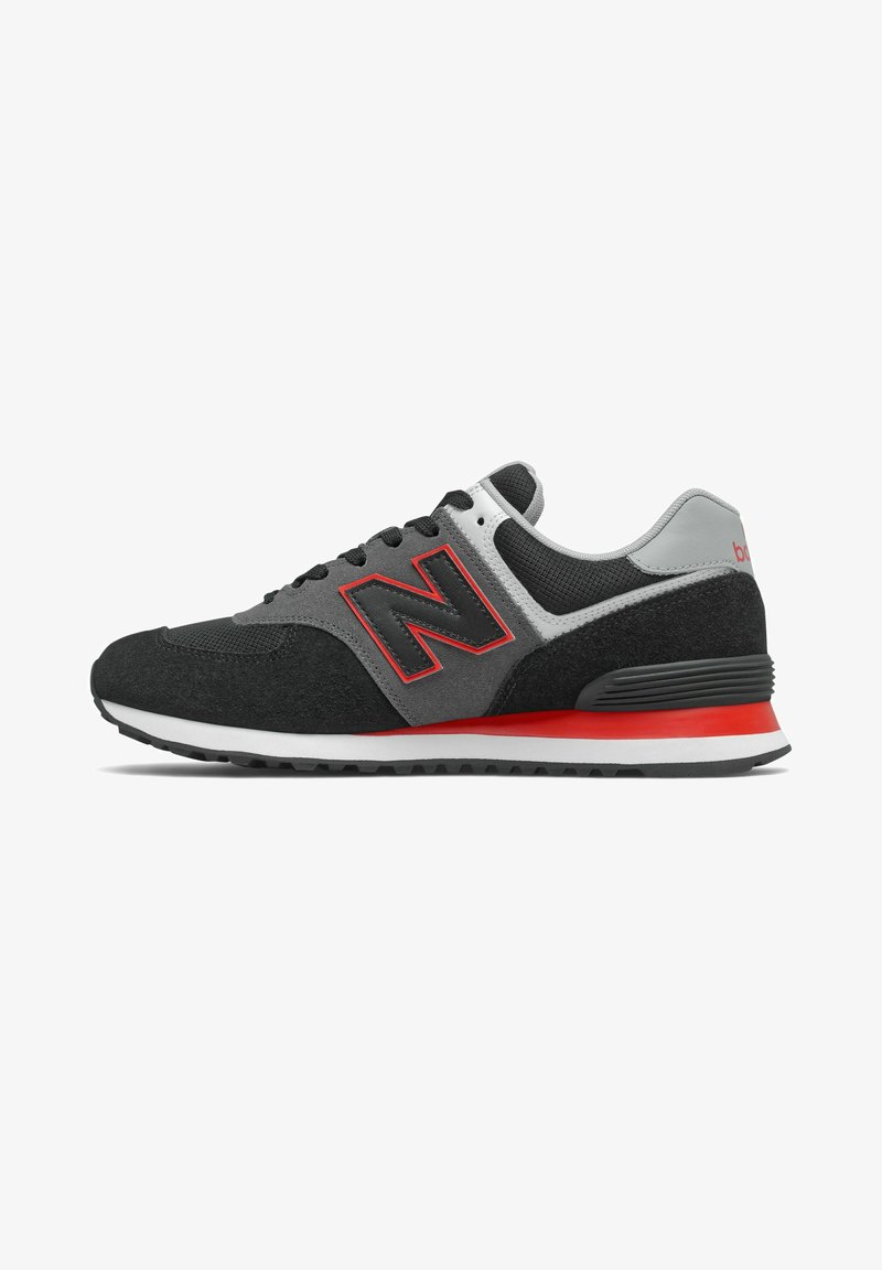 New Balance - 574 - Baskets basses - black/red