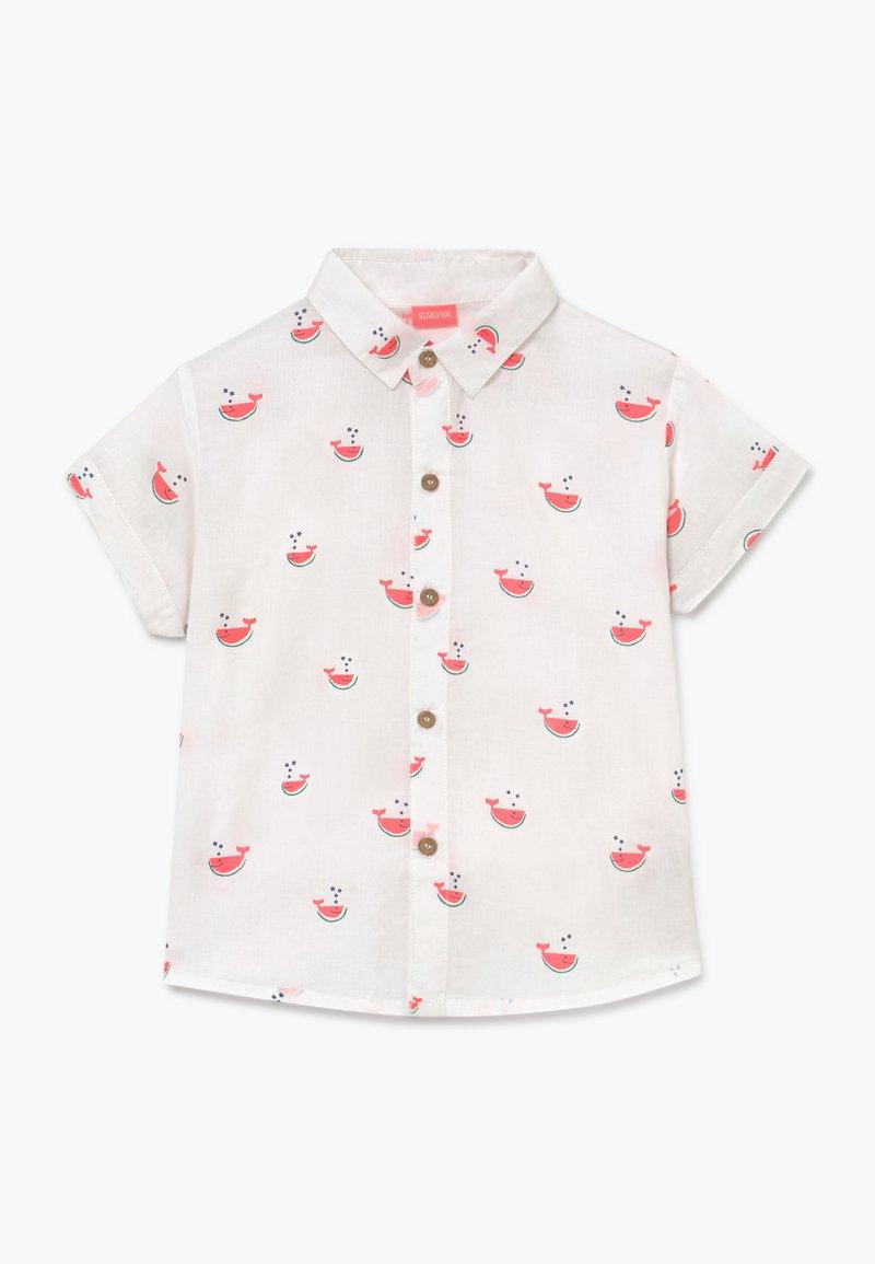 Sunuva - BABY BOYS WATERMELON WHALE  - Shirt - white