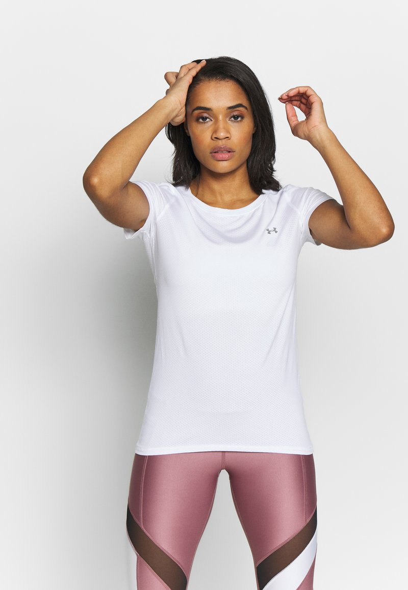 Under Armour - T-shirt basique - white/metallic silver