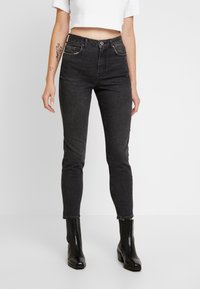 Pieces - PCLEAH MOM - Jeans Relaxed Fit - black - 0