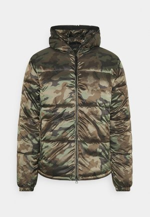 HOODED JACKET CAMOUFLAGE - Lehká bunda - olive
