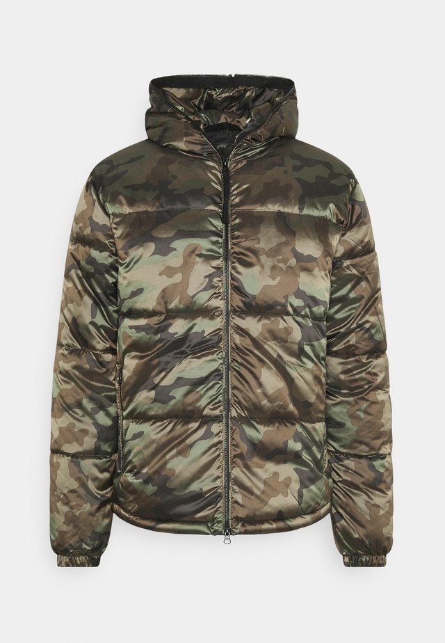 HOODED JACKET CAMOUFLAGE - Jas - olive